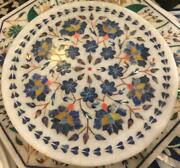 2and039x2and039 Marble Table Top Center Coffee Pietra Dura Antique Home Decor Inlay W169