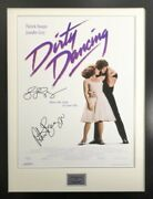 Signed Patrick Swayze And Jennifer Grey Dirty Dancing Movie Poster In Large Frame