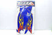 Ceet Zdyrap014 Yamaha Raptor Blue Flame Decal Kit Nos