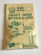 Vintage Kadee Model Railroad 228 Draft Gear Boxes And Lids Nos For K4k5 Mk4 Coup
