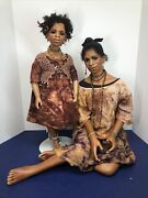 19-22andrdquo Artist Made Dolls Aileshia And Abwaiy Mother And Daughter Gillie Charlson Aa