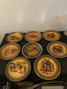 Antique Ridgway Coaching Days And Coaching Ways Luncheon Plate Set Of 8