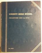 Unused Whitman Vntg Liberty Head Nickel Album For A Collection 1883 - 1913 9007