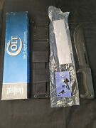 Colt Jungle Commander Ct45 Fixed Blade Machete Bowie Fighting Knife And Sheath Nos