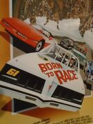 1988 Born To Race Movie Full Color One Sided Poster 14x9 Joseph Bottoms Rare
