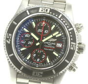 Breitling Super Ocean A13341 Chronograph Black Dial Automatic Menand039s Watch_608194