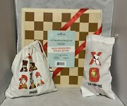 Hallmark Peanuts Charlie Brown Snoopy Wood Chess And Tic Tac Toe Board New