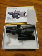 Clone Acog 4x32 Fiber Source Red Illuminated Chevron Scope Tactical