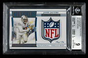 Josh Jacobs 2019 National Treasures Rookie Card Nfl Shields True One Of One