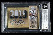 Josh Jacobs Rookie Patch Autograph Card Rpa ..true One Of One Bgs 8.5 /10