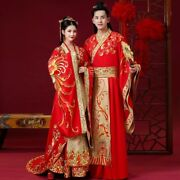Vintage Chinese Wedding Dress Embroid Men And Women Traditional Hanfu Embroidery