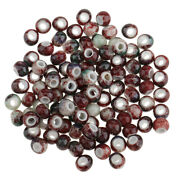 100pcs Bulk Antique Ceramic Beads 6mm For Earrings Charms Jewelry Findings