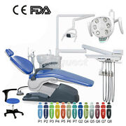 Dental Unit Chair Hard Leather Computer Controlled Dc Motor+stool/led Light Lamp