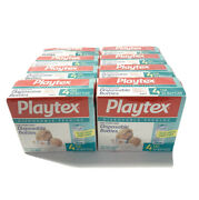 X8 Vtg Playtex Pre-sterilized Disposable Baby Bottle Liners 4oz 50ct 400 Total