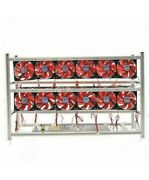 12 Gpu Open Air Mining Frame Rig Combo Kit W/ 12x High Flow Fans Miner Usa