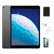 Apple Ipad Air 10.5-inch 3rd Gen With Black Case And Clear Tempered Glass