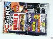Pc Gamer Issue 56 Ibm Vintage Computer Game Magazine And Cover Disks Unreal Quake