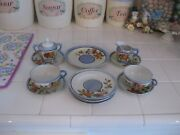Cute Vintage 14 Piece Set Of Lustreware Child's Dishes With Floral Made In Japan