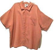 Flax 100 Linen Women's Short Sleeve Shirts Orange Is A 2g And Pink Is A Large