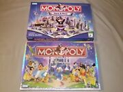 Monopoly Board Game Lot. Disney Characters 2001 And Here And Now 2006 Toys Games
