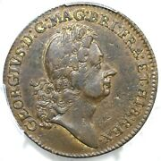 1722 M 2.1-b.1 Pcgs Au 55 With Ribbon Rosa Americana Two Pence Colonial Coin
