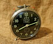 1959and039s Wehrle Vintage Alarm Clock Windup Three In One Desk Clock Collectible 76