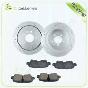 Rear Brake Rotors And Ceramic Pads For Land Rover Lr4 Range Rover Sport Hse