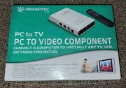 Grandtec Usa Pc To Tv Pc To Video Component Gxp-2000 New Everything In Wrap