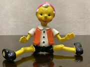 Vintage Ussr Russian Soviet Celluloid Toy Doll Pinocchio Buratino 1950and039s -1960and039s