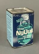 Vintage 1960s Vick's Nyquil Free Sample Cold Medicine Advertising Tin Unused Nos