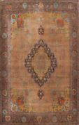 Antique Floral Traditional Area Rug Evenly Low Pile Handmade Wool 9x13 Ft Carpet