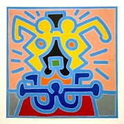Keith Haring Estate Rare 1999 Lithograph Print Pop Art Poster Untitled 1988