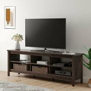 Tv Stand For 75'' Flat Screen Wood Storage Farmhouse Cabinet Tv Console Table
