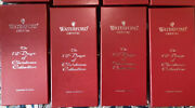Set Of 8 Waterford Crystal 12 Days Of Christmas Champagne Flutes And Charms 1-8