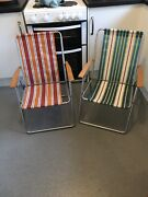 Pair Of Retro Vintage Camping Chairs