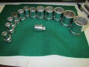 Lot Of 12 Vintage Williams Sockets 1/2andrdquo Drive 12 Point And Adapter 1/2f X 3/8m Usa