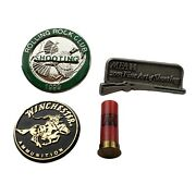 4 Shooting Tie Tack Lapel Hat Pins Winchester Aa Shell Mfah Rolling Rocking Club