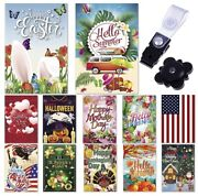 Garden Flag Set Of 12 - 12x18 Inch - Double Sided Yard Flags Seasons Holidays