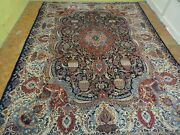 Exquisite 1950and039s Authentic Vintage Mint Hand Made Knotted Rug 9.7 X 12.8