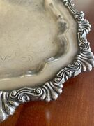 Vintage Fb Rogers Silver Co. Silver On Copper Serving Tray 6720