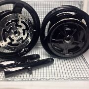 Harley 2009-19 Touring Road Glide Pulley Rotor Bright Black Wheels Outright
