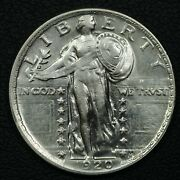 1920 Standing Liberty Silver Quarter - Whizzed