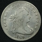 1805 Draped Bust Silver Quarter - Cleaned