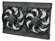 Spal Advanced Technologies Dual 12in Puller Fan Curved Blade 3168 Cfm Pn
