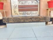 Antique Wood Craved Elephant Horse Cart Tribal Figure Wall Door Panel 71 X 8and039and039