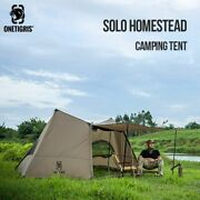 Solo Camping Tent Shelter With Poles Survivalist Outdoor Sleeping Gear Hunting