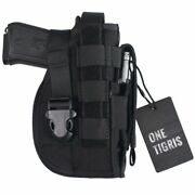 Tactical Gun Molle Holster Pistol Rifle Holder Right Handed Shooter Pouch Bag
