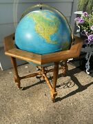 Vintage Geoscope Large 20 Illuminated World Globe With Stand Made In Italy