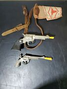 Vintage Toy Cap Gun Lot And Holster