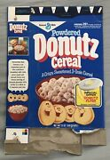 Old Vintage 1982 1980andrsquos General Mills Powdered Donutz Cereal Box Flyer Offer